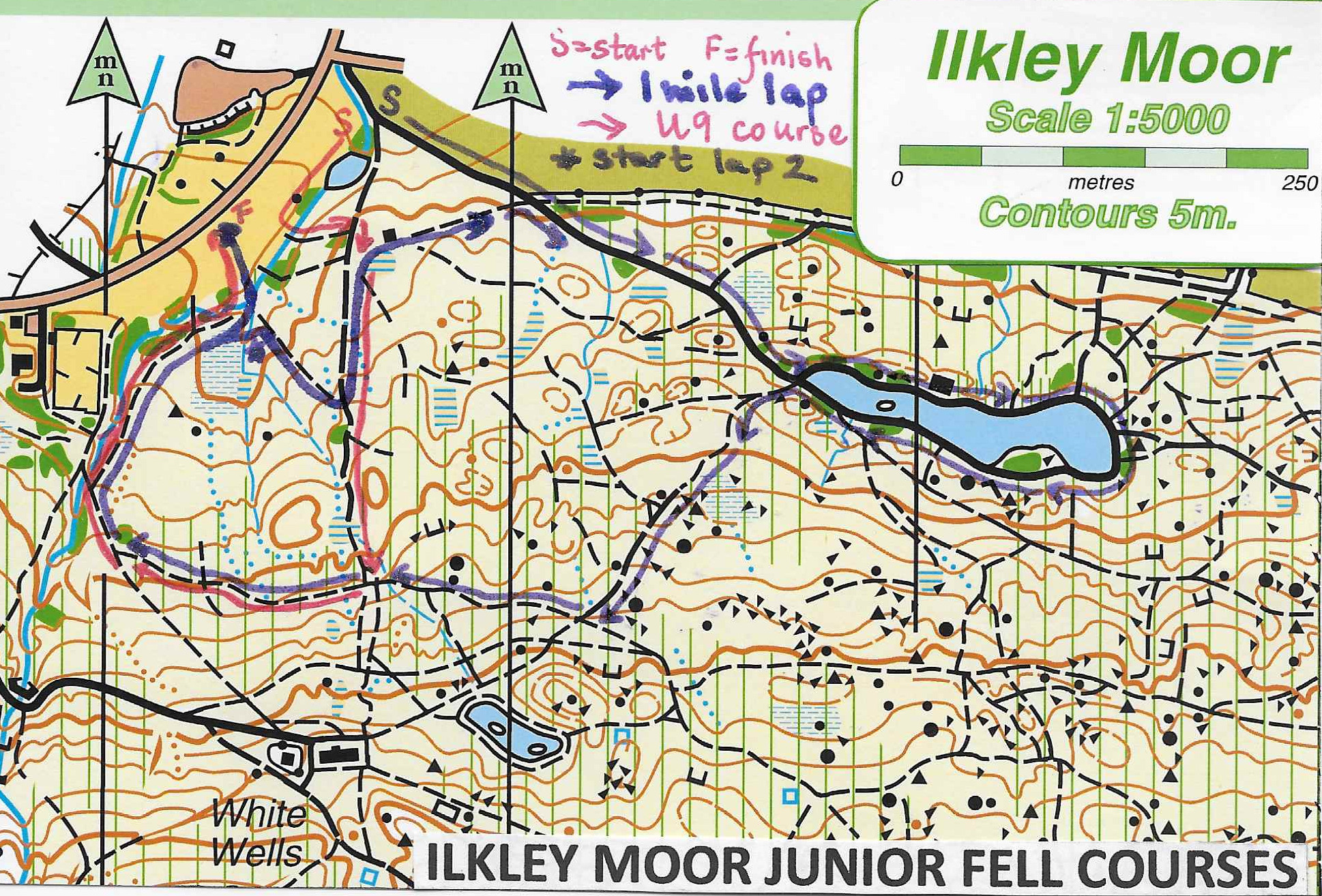 Ilkley Moor fell races junior courses